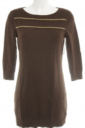 Michael Kors Long Sweater grey brown-gold-colored casual look