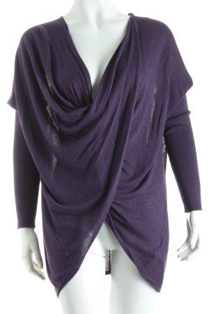 Michael Kors Longsleeve dunkelviolett Street-Fashion-Look
