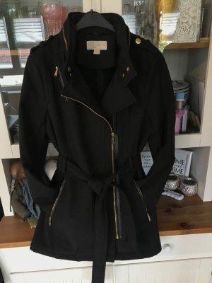 Michael Kors Short Coat black-gold-colored