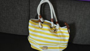Michael Kors Marina gelb/weiß/gold canvas Large