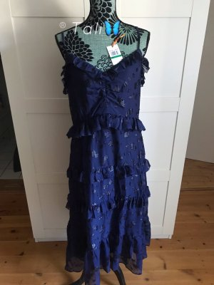 Michael Kors Maxi mittellanges Kleid  Navy Blau  L 40 10