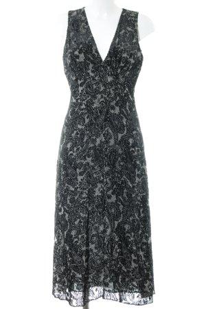 Michael Kors Maxikleid grau-schwarz abstraktes Muster Elegant