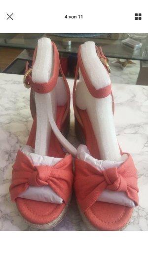 Michael Kors Maxwell MID Wedge Schuhe Pink Grapefruit 9M EU 40 NEU OVP