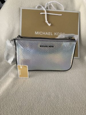 Michael Kors Medium Chain Pouchette Embossed Leather Rainbow