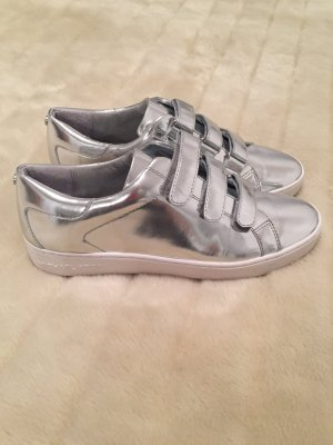Michael Kors Metallic Leder Sneaker silber Gr. 38,5