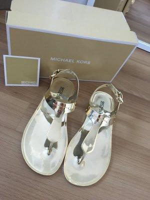 Michael Kors Metallic Sandalen Gold