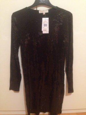 Michael Kors Midi Kleid schwarz mit Pailletten