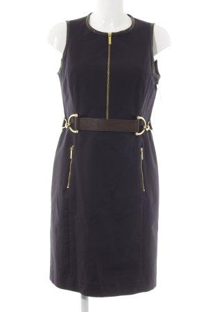 Michael Kors Midi-jurk donkerblauw-goud casual uitstraling