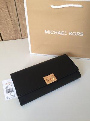 Michael Kors Portefeuille noir-doré cuir