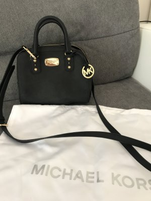 Michael Kors Minibolso negro-color oro Cuero