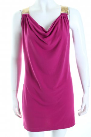 Michael Kors Minikleid magenta-goldfarben Glanz-Optik
