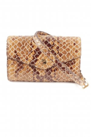Michael Kors Mini Bag dark brown-sand brown animal pattern elegant