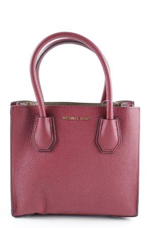 "Michael Kors Minitasche ""Mercer MD Messenger Bag Leather Cherry"" dunkelrot"