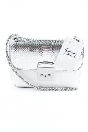 "Michael Kors Borsetta mini ""Sloan Editor MD Chain Shoulder Bag Leather Silver"""