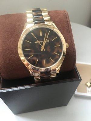 Michael Kors Orologio con cinturino di metallo oro-marrone