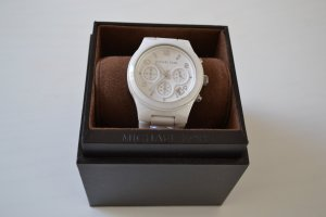 Michael Kors Montre analogue blanc