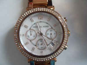 Michael Kors MK 5491 Damenuhr in Rose Gold mit Strass