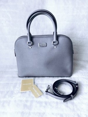 Michael Kors MK *Cindy - LG Dome Satchel Leather Pearl Grey* Tasche Handtasche Umhängetasche Leder