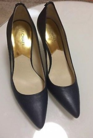 MICHAEL KORS MK Damen Pumps Gr 9M Stiletto Blau Leder Schuhe TOP! High Heels