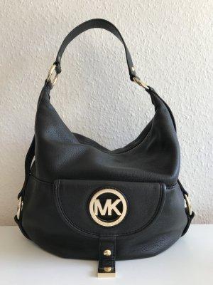 Michael Kors MK Tasche Handtasche schwarz Leder Gold