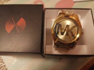 Michael Kors MK3739 Slim Runway Edelstahl Gold Dial Damenuhr   Original.neu