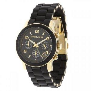 Michael Kors MK5491 Chronograph Damen Uhr schwarz-gold, neuwertig