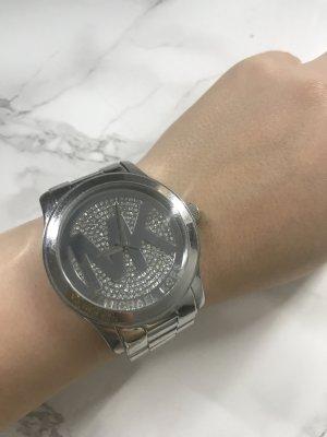 Michael Kors Horloge met metalen riempje zilver-lichtgrijs