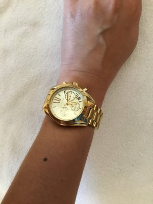 Michael Kors Watch With Metal Strap sand brown glas