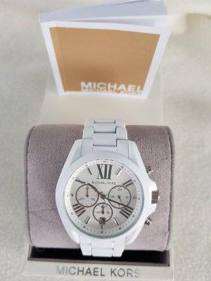 Michael Kors Orologio con cinturino di metallo bianco
