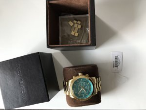 Michael Kors Watch With Metal Strap gold-colored-turquoise