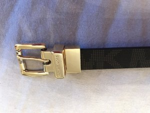 Michael Kors Cinturón doble marrón-negro-marrón arena Cuero