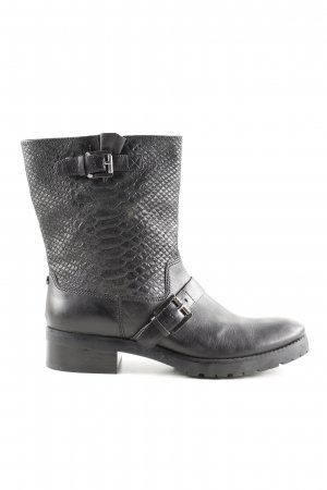 Michael Kors Biker Boots black animal pattern casual look