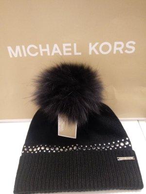 Michael Kors Gorra negro-color plata