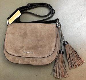 Michael Kors Shoulder Bag grey brown suede