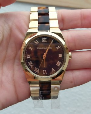 michael kors neu mk6151 channing armbanduhr damenuhr gold braun