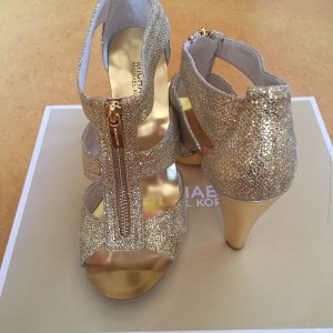 Michael Kors High-Heeled Sandals gold-colored