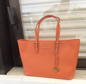 Michael Kors Notebook Umhängetasche orange