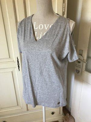 Michael Kors Camisa de un solo hombro gris