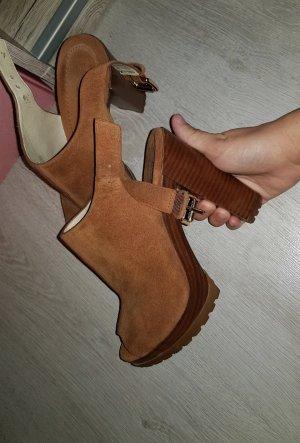 Michael Kors Chaussure à talons carrés bronze-marron clair