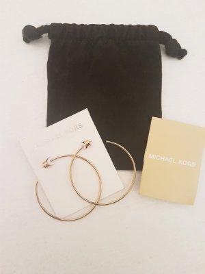 Michael Kors Ear Hoops dark yellow metal