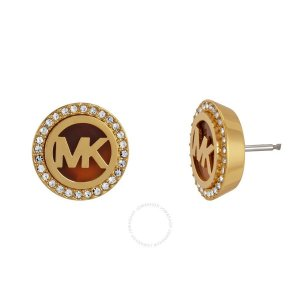 Michael Kors Clou d'oreille multicolore bronze
