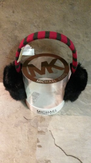 Michael Kors Earmuff dark red-black