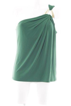 Michael Kors Top monospalla verde bosco-oro elegante