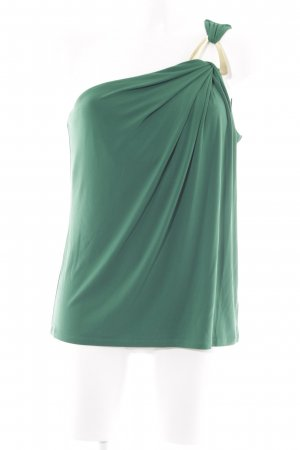 Michael Kors One-Shoulder-Top waldgrün-goldfarben Elegant