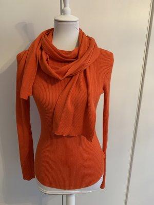 MICHAEL KORS oranges Oberteil mit abnehmbarem Schal