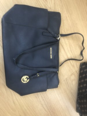 Michael Kors Handbag dark blue-gold-colored
