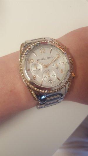 Michael Kors Original Uhr neue Batterie roség. silber