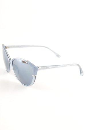 Michael Kors ovale Sonnenbrille kornblumenblau Retro-Look