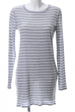 Michael Kors Sequin Dress white-light grey striped pattern casual look