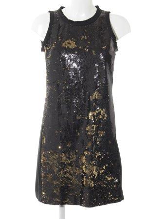 Michael Kors Jurk met pailletten zwart-goud elegant